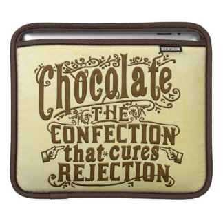 Funny Chocolate Writer Rejection Cure Sleeve For iPads