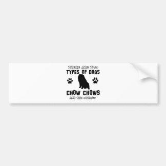 Funny chow chow designs bumper sticker