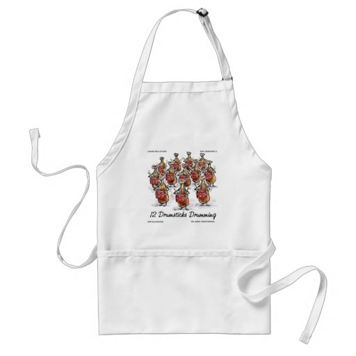 Funny Christmas 12 Drumsticks Drumming Gifts & Tee Apron