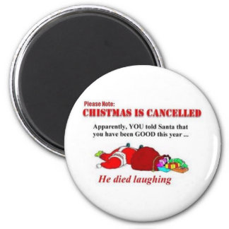 funny christmas 6 cm round magnet