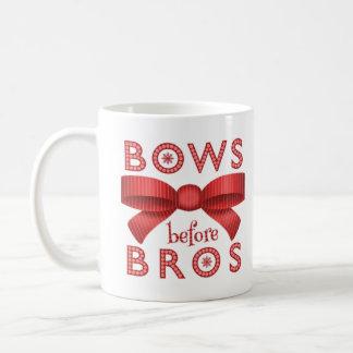 Funny Christmas Bows Before Bros Cute Coffee Mug
