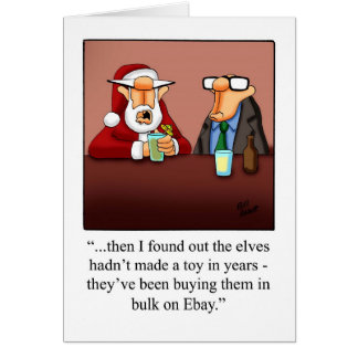 Funny Christmas Business Humour Blank Card