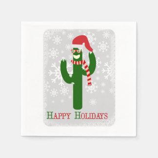Funny Christmas Cactus Disposable Serviette