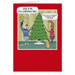 Funny Christmas card: Dim Bulb