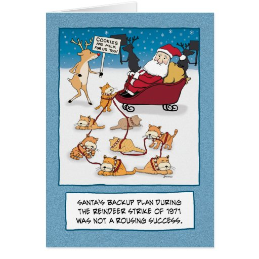 Funny Christmas card: Sleigh Cats | Zazzle