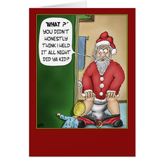 Funny Christmas Cards: Bathroom Break Card