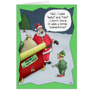 Funny Christmas Cards: Hard of Hearing Card