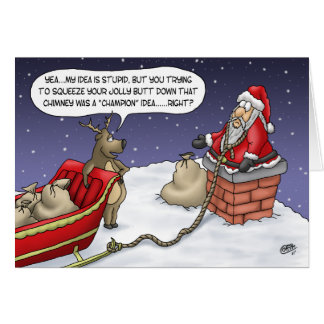 Funny Christmas Cards: Jolly Idea Greeting Card