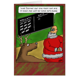 Funny Christmas Cards: Naughty and Nice Greeting Card