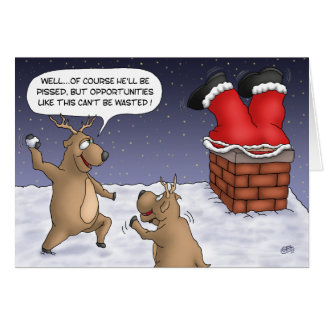 Funny Christmas Cards: Opportunities Greeting Card