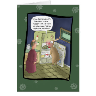 Funny Christmas Cards: Raiding the Fridge Card
