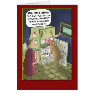Funny Christmas Cards: Raiding the Fridge Greeting Card