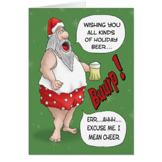 Funny Christmas Cards: Santa Relaxed Card