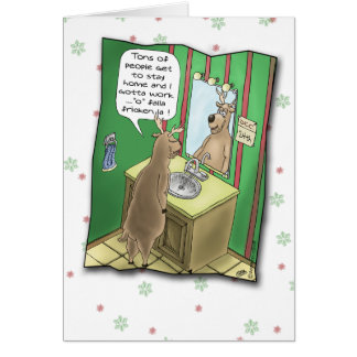 Funny Christmas Cards: Working Christmas Eve Card
