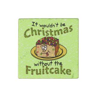 Funny Christmas Cartoon Fruitcake Stone Magnet
