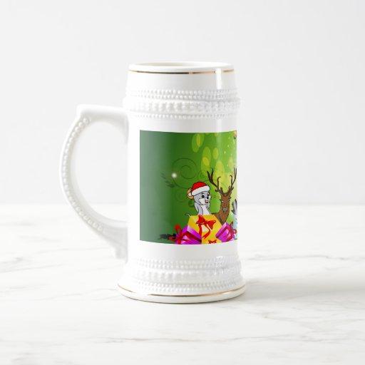 Funny christmas cartoon coffee mug