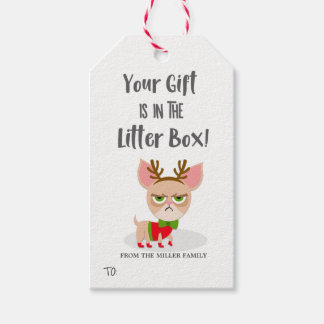 Funny Christmas Cat Lover Gift Tags