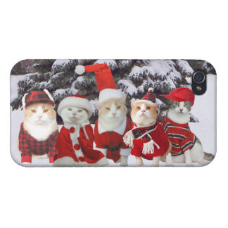 Funny Christmas Cats iPhone 4 Covers