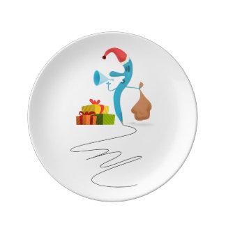 Funny Christmas character cartoon Porcelain Plates