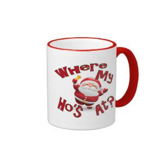 funny christmas coffee mug santa