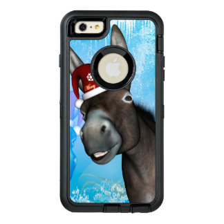 Funny christmas donkey with christmas hat OtterBox iPhone 6/6s plus case