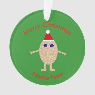Funny Christmas Egg Acrylic Ornament