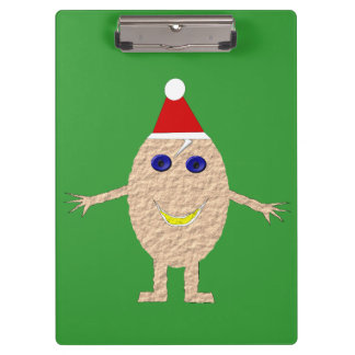 Funny Christmas Egg Clipboard