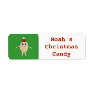 Funny Christmas Egg Custom Food Label