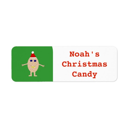 Funny Christmas Egg Custom Food Label