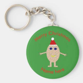 Funny Christmas Egg Custom Keychain
