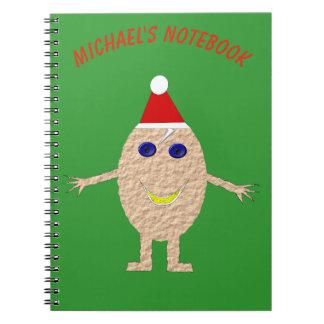 Funny Christmas Egg Custom Notebook