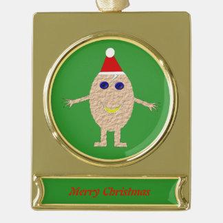 Funny Christmas Egg Custom Ornament