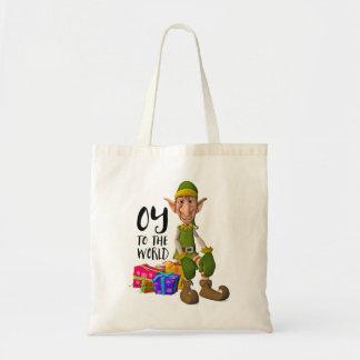 Funny Christmas Elf Budget Tote Bag
