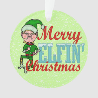 Funny Christmas Elf Merry Elfin Bah Humbug