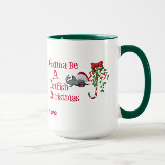 Funny Christmas Fishing ♫♥  Catfish Christmas Mug