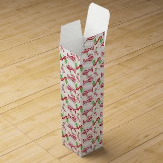 Funny Christmas Fishing Merry Fishmas ♫♥ Wine Gift Box