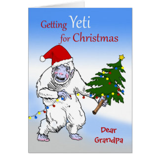 Funny Christmas for Grandpa, Are You Yeti Yet? Card