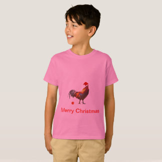 Funny  Christmas Greeting with a chicken T-Shirt