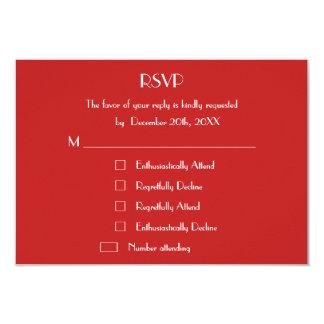 Funny Christmas Holiday Wedding RSVP Custom Invite