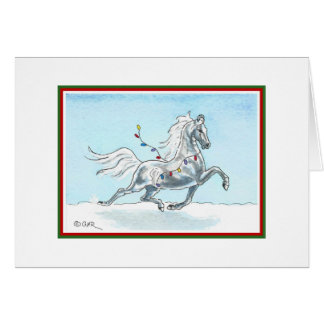 Funny Christmas Horse Card