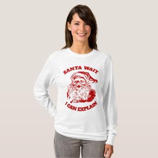 Funny Christmas Humor Santa Wait I Can Explain T-Shirt