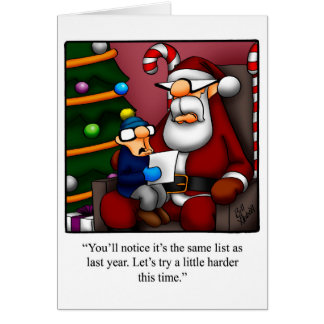 """Funny Christmas Humour Greeting Card """"Spectickles"""""""