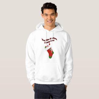 Funny Christmas I Hang Low Hoodie