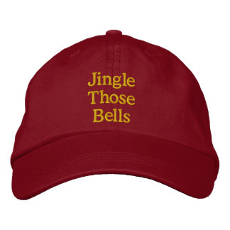Funny Christmas innuendo red gold Embroidered Hat