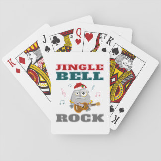 Funny Christmas Jingle Bell Rock Cartoon Playing Cards