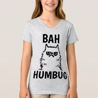 Funny Christmas Kids CAT T-shirts, Grumpy T-Shirt