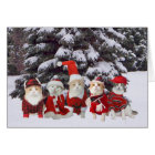 Funny Christmas Kitty Cats Card