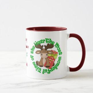 Funny Christmas Moose Wonderful Time Mug