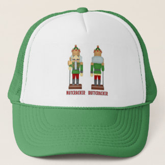 Funny Christmas Nutcracker Buttcracker Humorous Trucker Hat