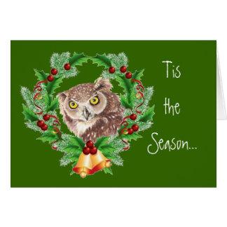 Funny Christmas Owl with Attitude Bird Humor Card